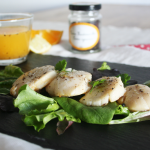 Coquilles St Jacques sauce agrumes, vanille fendue